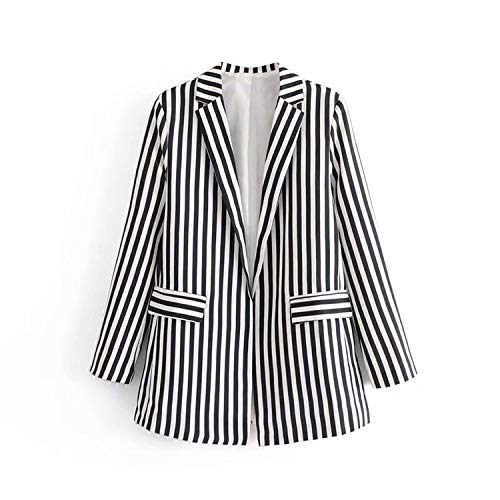 Green Plaid Frauen gestreift schwarz weiß gestreift lässig gestreiften Blazer + gestreifte Hosen 2-teiliges Set Office Lady Suit Outfit -