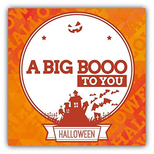 A Big Boo To You Halloween Slogan Hochwertigen Auto-Autoaufkleber 12 x 12 cm