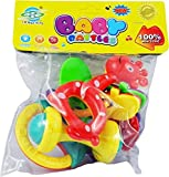 #10: Non Toxic Baby Toys Rattle Set of 4 Pieces for Infants and Toddlers - Multi color