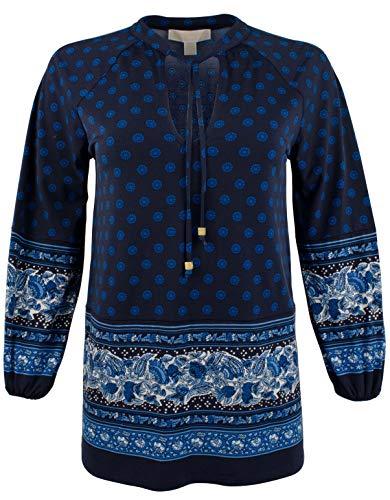 Michael Michael Kors Womens Sunny Batik Printed Pullover Peplum Top