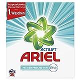 Ariel Vollwaschmittel mit Febreze Pulver, 4er Pack (4 x 20 Waschladungen)