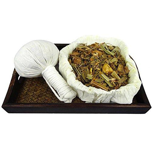 5 x Kräuterstempel Thai Lanna Kräuter 150g (Gramm) aus Chiang Mai - MyThaiMassage - für traditionelle Massagen & Wellness - 100% natürliche Zutaten in einem unbehandelten Baumwoll-Tuch