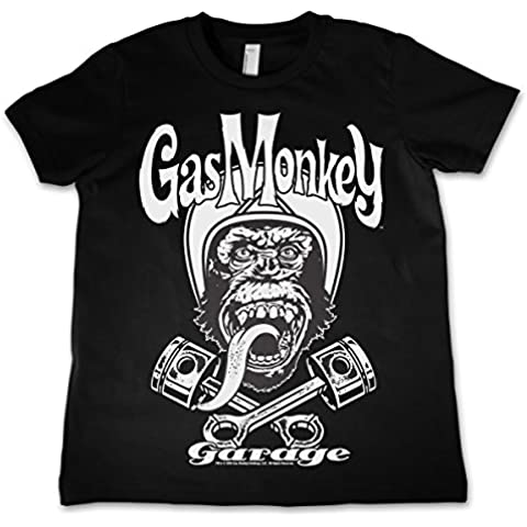 Officially Licensed Merchandise Gas Monkey Garage - Biker Monkey Kids T Shirts Ages 3-12 Years