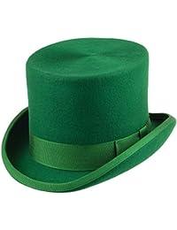 Chapeau Haut de Forme en Laine Feutrée vert DENTON