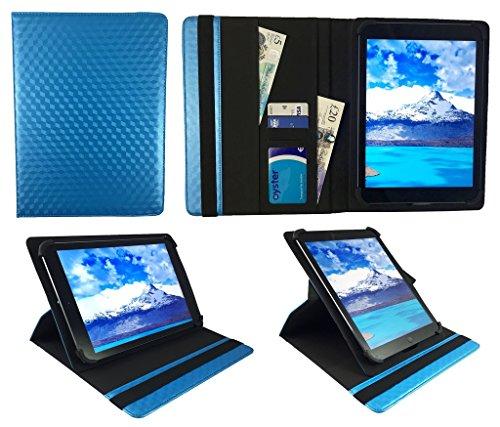 One Tablet Xcellent 10 Windows Blau 3D Cube Universal 360 Grad Drehung PU Leder Tasche Schutzhülle Case ( 9 - 10 Zoll ) von Sweet Tech