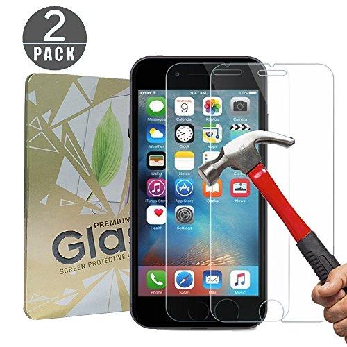 [2 Pack] Cherbell Protection écran pour iPhone 6s Plus / 6 Plus Verre Trempé écran Protecteur 9H Glass Screen Protector Anti-choc,Anti poussière, Anti-UV pour iPhone 6s Plus