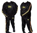 Heavy Duty 2 FIT Gold Suit Fitness Exercice Gym, Fitness, Course à pied, Jogging, Suit Costume Perte de Poids Snack Minceur T-Shirt Suit M-6 XL, Hommes, 4XL