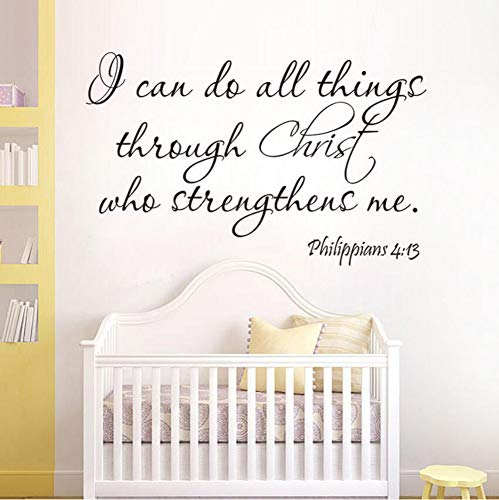 (Yzybz 4:13 I Can Do All Thing Christ Bible Quote Home Decal Wall Sticker Family Happy Bless)