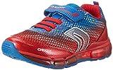 sneakers bambino geox modello android nylon rosso blu