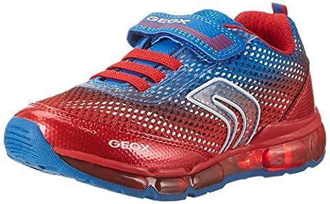 Geox J Android B, Sneakers Basses Garçon, Bleu (Royal/redc0833), 32