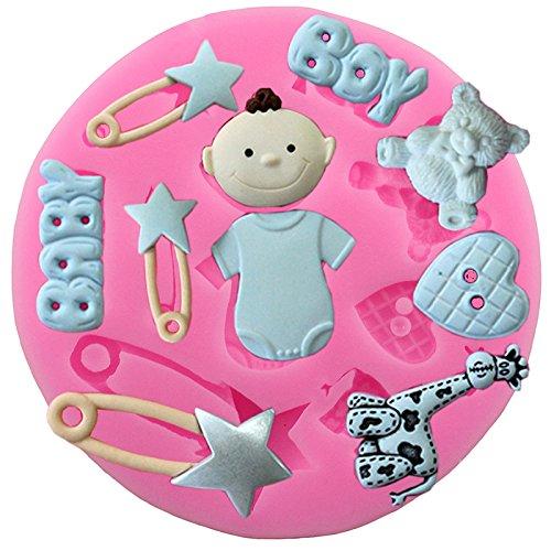 che Silikon Fondant Kuchen Form für Baby Dusche Party Kuchen dekorieren ()