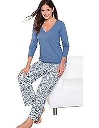 VENCA Pijama Camiseta de Escote v Cruzado con Lazo en un costado by Vencastyle