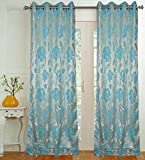 Threadmix Polyester Cotton Aqua Floral D...