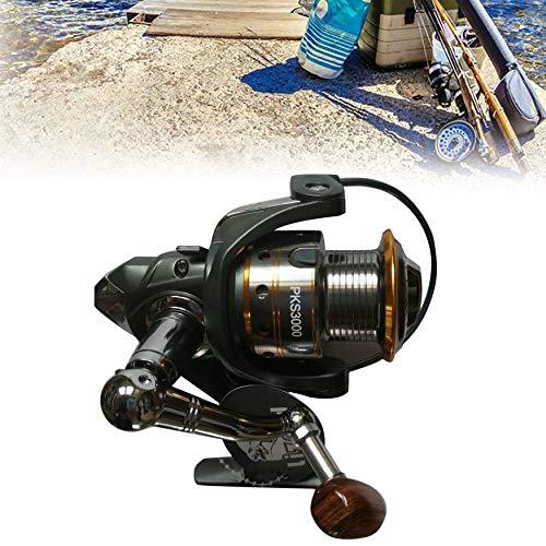 Yaoaomon Lizard Fishing Reel Bait Casting Spinning Reel Wood Handle Fishing Reel Multicolor DK3000