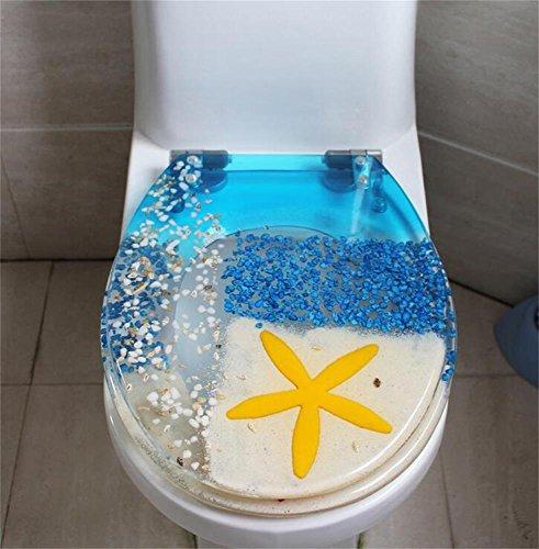 Uncle Sam LI résine de créatrice | uvo épaissie siège de toilette commune repose | facile à mont | stable