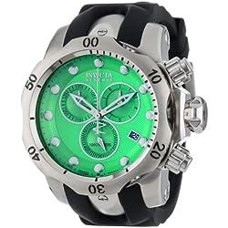 Invicta Reserve/Subaqua Venom 6105 52 Stainless Steel Case Black Band flame fusion Men's Quartz Watch