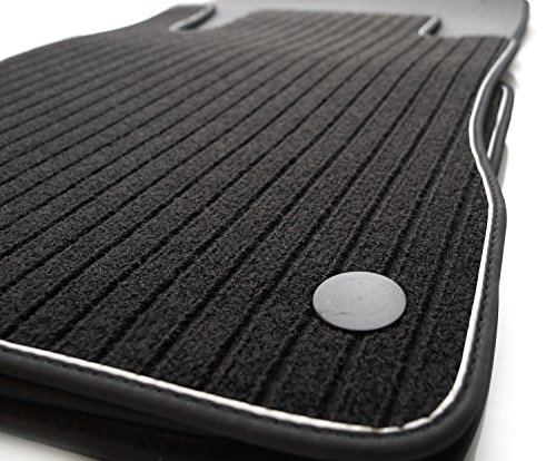 Lot de 4 tapis de sol pour Mercedes Classe A W176 Qualité d'origine Design sport AMG