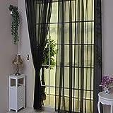 TAOtTAO 1 Stück Reine Farbe Tulle Tür Fenster Vorhang Drape Panel Sheer Schal Volants (D)