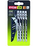 Ryobi RAK05JSBFC Jigsaw Blade Set with Flush Cut Blade, 5 Piece