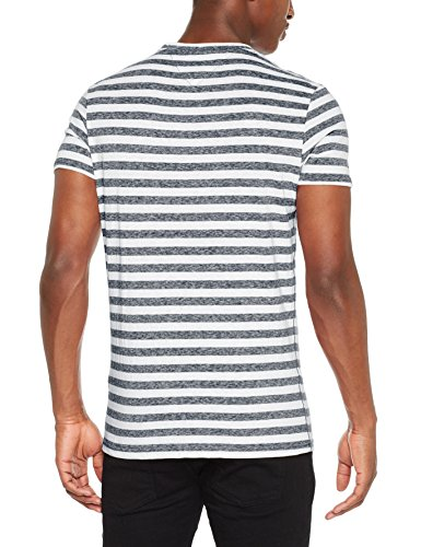 Tommy Jeans Herren T-Shirt Tjm Essential Stripe Tee Blau (Black Iris 002)