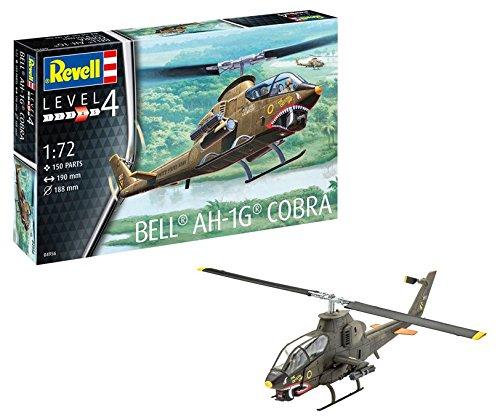 Revell 04956 - Modellbausatz Hubschrauber 1:72 - Bell AH-1G Cobra im Maßstab 1:72, Level 4, Orginalgetreue Nachbildung mit Vielen Details, Helikopter -