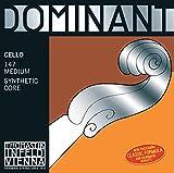 Thomastik Saiten für Cello Dominant Nylonkern Satz 4/4 mittel Chrom