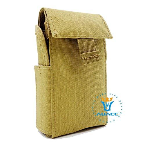 Survival Gear multifunzione MOLLE Tactical borse, borse, riviste, 25, da campeggio portatile e sistema MOLLE PALS 25, 12 Gauge Reload Magazine, conchiglie, Shotgun - KH
