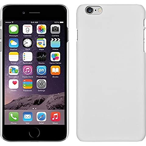 Coque Rigide pour Apple iPhone 6 Plus / 6s Plus - gommée blanc - Cover PhoneNatic Cubierta + films de protection