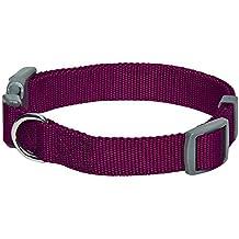 Umi. by Amazon - Classic – Einfarbiges Hundehalsband in Lila, Medium, Hals 37 cm–50 cm, längenverstellbares Hundehalsband