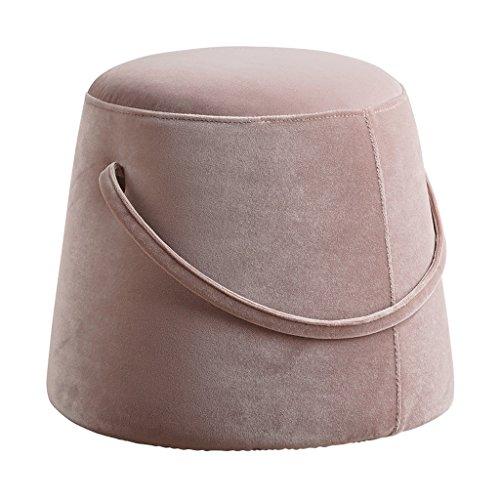 Hocker Nordic Stoff Hause runden Sofa moderne kreative Change Schuhe Inneneinrichtung (Farbe : Pink)