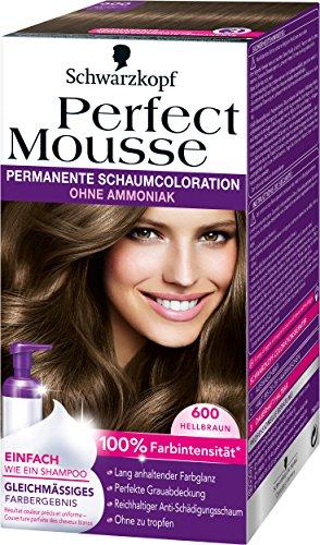 Perfect Mousse (Perfect Mousse permanente Schaumcoloration, 600 Hellbraun, 3er Pack (3 x 1 Stück))