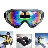 Gafas de esquí, snowboard ajustables conprotección UV 400 a prueba de polvo. Para moto, deportes al aire libre táctico militar combate para niños, niños, niñas, jóvenes, hombres, mujeres.