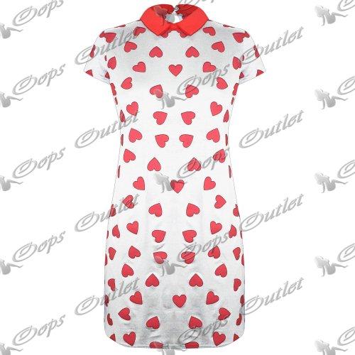 Pure Fashion Damen Partykleid körperbetont Mehrfarbig Black - Lage Heart