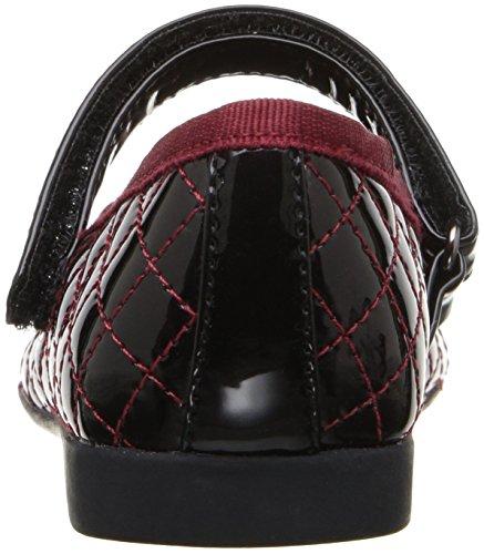 Geox Plie' D, Ballerines Fille Rot (DK RED/BLACKC0100)