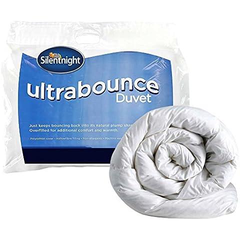 Silentnight Ultrabounce - Piumino, 4.5 tog, mantiene la forma, Policotone, bianco, Singolo