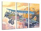 Poster Moderno Fotografico Aviacion, Dibujos Aviones Antiguos, Aviones de Guerra, 97 x 62 cm, ref. PST26456