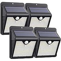 Trswyop Lampe Solaire Extérieur 4 Pack 150 Led, Détecteur de Mouvement éclairage Solaire Extérieur étanche Sans Fil Spot Solaire Lumière Puissant Sécurité pour Jardin