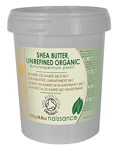 Bio Sheabutter, unraffiniert - 100% rein - Organisch zertifiziert - 250g