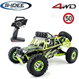 s-idee® 18111 S12428 RC Auto Buggy Monstertruck 1:12 mit 2,4 GHz 50 km/h schnell, wendig, voll digital proportional 4x4 Allrad WL Toys ferngesteuertes Buggy Racing RC Auto