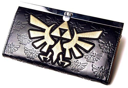 Preisvergleich Produktbild The Legend of Zelda Girl Frauen Portemonnaie / Geldbörse / Geldbeutel / Brieftasche: Golden Logo (Schwarz) Bioworld