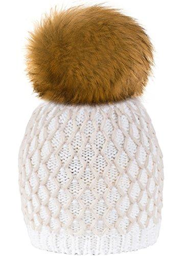 834d6dcd5ef 4sold Winter Autunno Inverno Cappello Cristallo Più Grande Pelliccia Pom Pom  Invernale di lana Berretto Delle