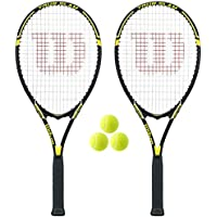 2 x Wilson Tour Tennis Rackets + 3 Tennis Balls RRP £110