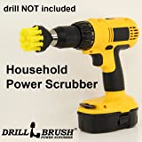Household Power Scrubber Cordless Drill Battery Operated Bathroom and Tile Scrub Brush