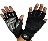 Gants de sport Half Finger Gant d'haltérophilie Sport Gym Gants de sport de remise en forme Gants de fitness Gymnastique respirante antidérapante , Silver , L