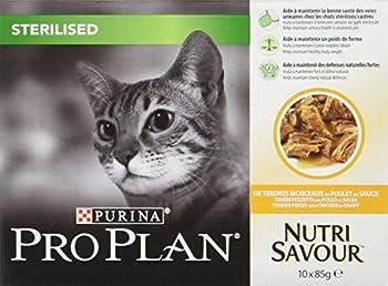 Purina Proplan Cat Nutrisavour Sterilised Poulet 10 pochons 85 grs