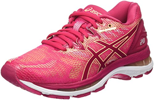 ASICS Gel-Nimbus 20, Scarpe Running Donna, Rosa Bright Rose/Apricot Ice 2121, 36 EU