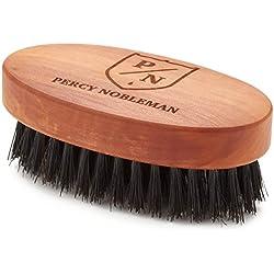 Cepillo para la barba de Percy Nobleman - elaborado a partir de madera de peral austriaco con tratamiento de aceite.