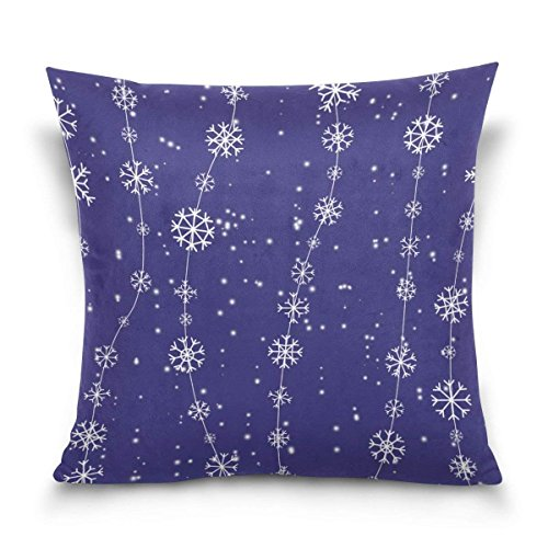 pants hats Snowflakes for Christmas Square Throw Pillow Case Cotton Velvet Cushion Cover 18