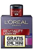 Crema de noche RevitaLift Laser X3 con muestra de crema de día de...