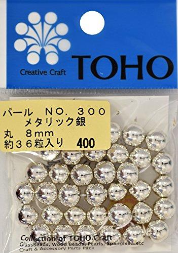 TOHO runde Perle Aussendurchmesser von etwa 8 mm No.300 Silber ueber 36 Monate Eingabe -